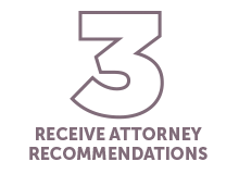 Receive Attorney Recommendations